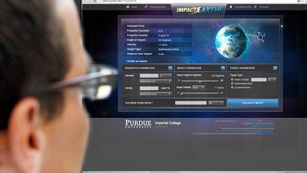 Presentan un programa para calcular el impacto de un meteorito