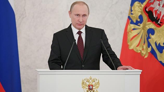AVANCE: Putin se dirige a la Asamblea Federal de Rusia