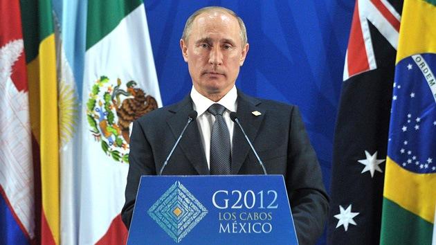 """Putin: """"Un cambio de poder en Siria sólo es posible por medios constitucionales"""""""