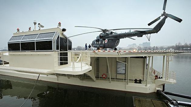 FOTOS: Moscú inaugura un futurista helipuerto y complejo de amarre