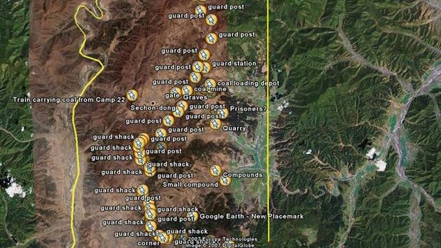 Google Earth revela la aparición de un nuevo campo de detención en Corea del Norte