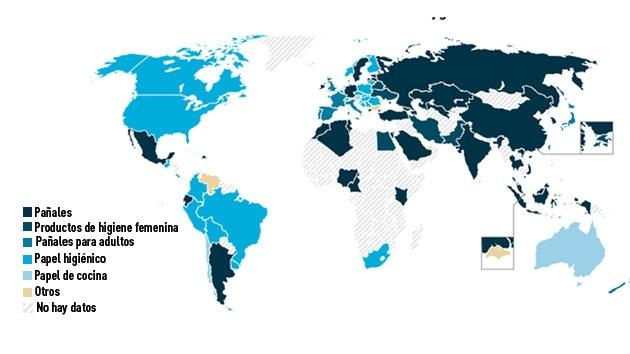 Un mapa revela la edad de los países según el uso que hacen del papel