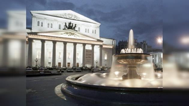 Instalan escenario hidráulico sin precedente en el Bolshoi