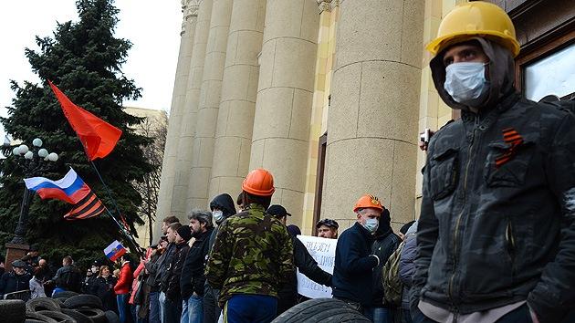 El Ministerio del Interior de Ucrania lleva a cabo una operación policial en Járkov