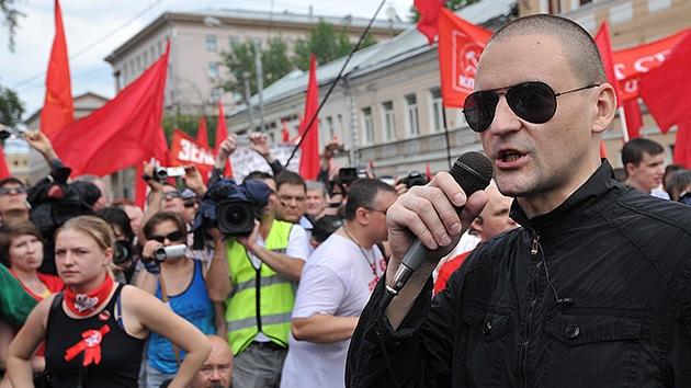 Acusado el opositor ruso Udaltsov de organizar disturbios masivos
