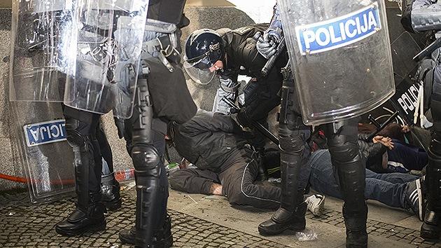 Fotos: Manifestaciones en Eslovenia contra las medidas de austeridad