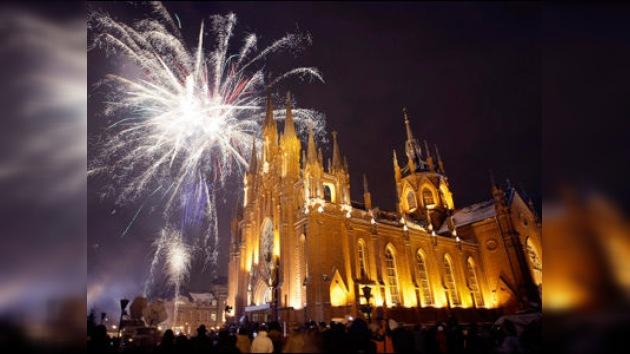 Las misas católicas navideñas de Rusia en lengua extranjera