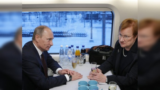 Putin y Jalonen estrenan el nuevo tren rápido entre Finlandia y Rusia