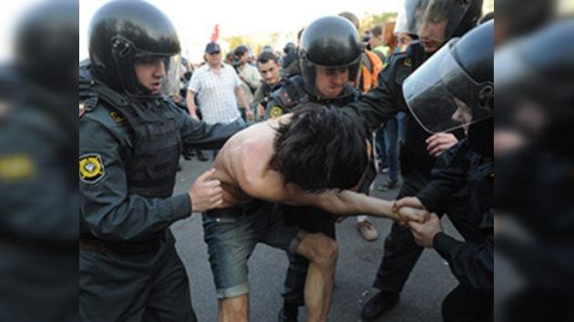VIDEO, FOTOS: La Policía de Moscú dispersa una manifestación opositora no autorizada
