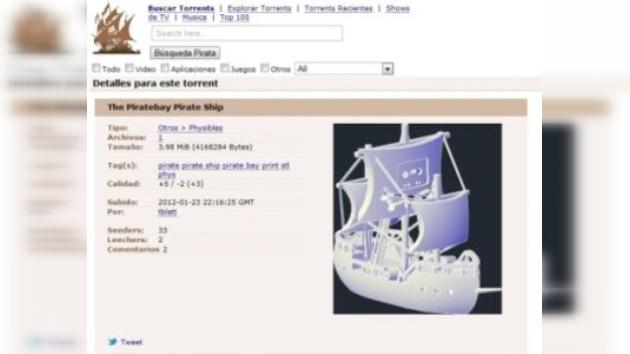 The Pirate Bay propone descargar objetos físicos