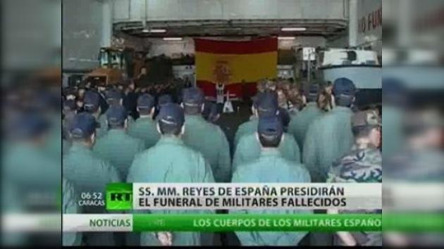 Llegan a España los cuerpos de militares fallecidos en Haití