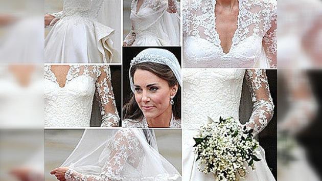Realizaron una copia del vestido de la duquesa Catalina en 5 horas