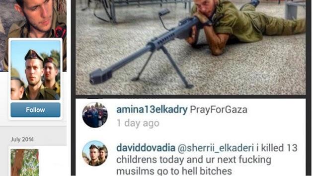 Foto: Soldado israelí presume en Instagram de haber matado a 13 niños palestinos