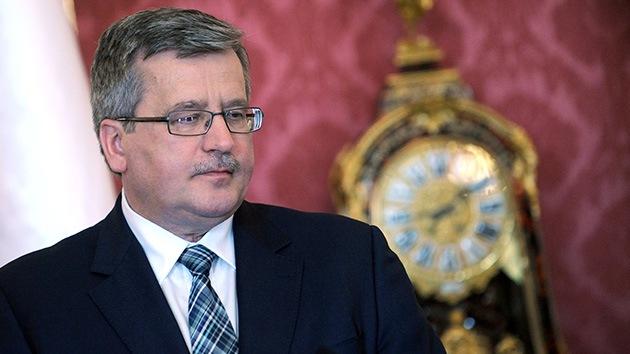 """El presidente polaco tacha de """"error"""" la implicación de su país en el escudo de EE.UU."""