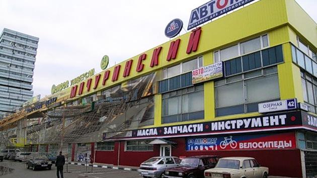 Derrumbe en un centro comercial en Moscú