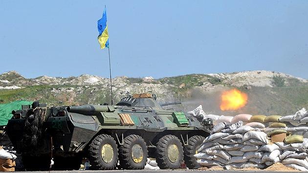 El Ejército ucraniano reanuda el ataque de artillería en los suburbios de Slaviansk