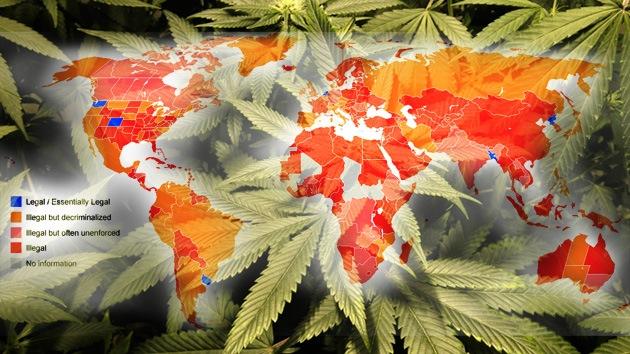 El mapamundi de la marihuana: el cannabis 'va sembrando' leyes… y fiestas