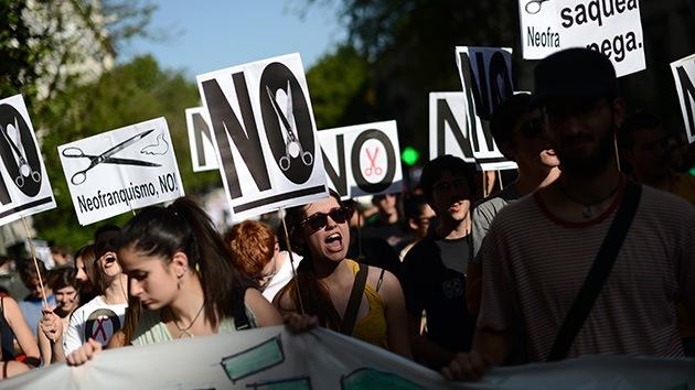 Las protestas en España 'no se cortan': más de medio centenar de manifestaciones denuncian hoy la austeridad