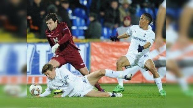 El Rubín se impone al Tottenham y el Lokomotiv al AEK en la Liga Europa