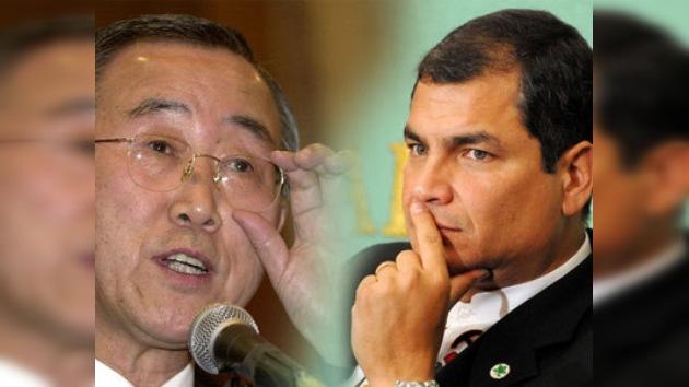 La ONU se une a las expresiones de apoyo al Gobierno de Ecuador