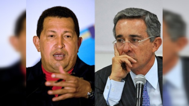 Chávez critica a Uribe