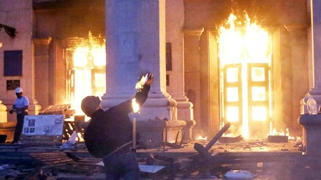 El infierno de Odesa desde adentro: ucraniano grabó video antes de morir entre las llamas