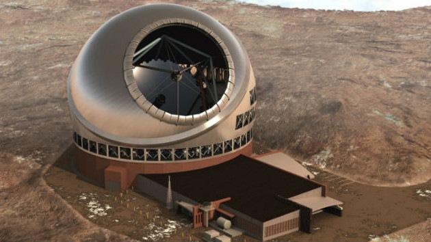 Construyen el mayor telescopio del mundo en un volcán hawaiano