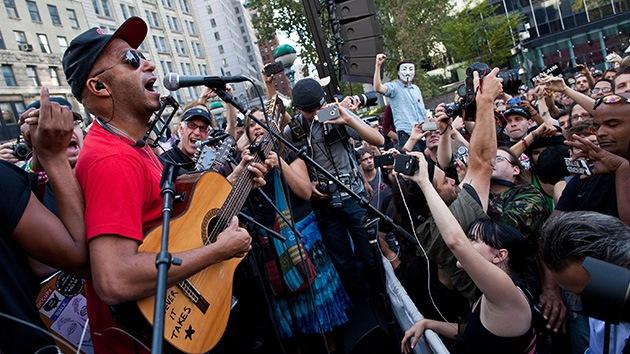 """El movimiento 'Ocupa' ya tiene su himno roquero: """"¡Somos el 99%!"""""""