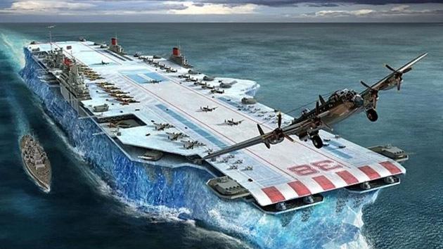 El portaaviones de hielo con el cual se planeaba vencer a Hitler