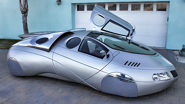 Imagens: um designer EUA  veículos fabricados de ficção científica