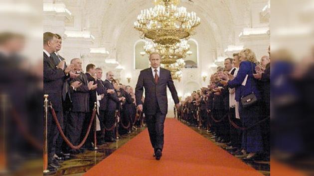 Vladímir Putin presta juramento como presidente de Rusia