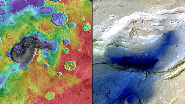 Astrónomos descubren que un cráter marciano podría ser un supervolcán