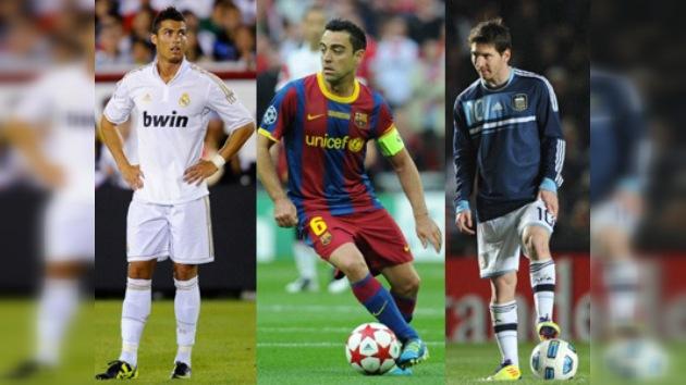 Messi, Ronaldo y Xavi, candidatos al premio de mejor jugador de Europa
