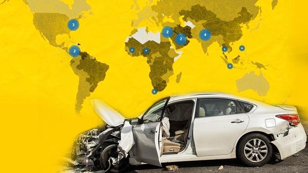 Mapa: ¿Cuál es el país con más muertes por accidentes de tránsito?