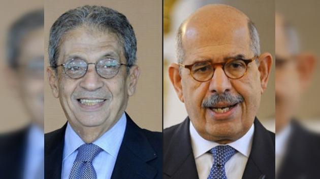 El-Baradei y Amr Moussa, posibles candidatos a la Presidencia en Egipto