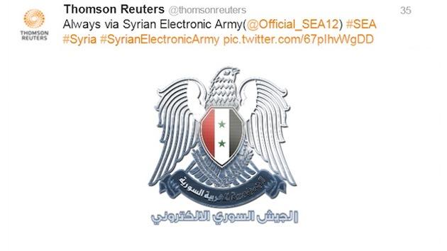 Reuters, nuevo blanco del Ejército Sirio Electrónico
