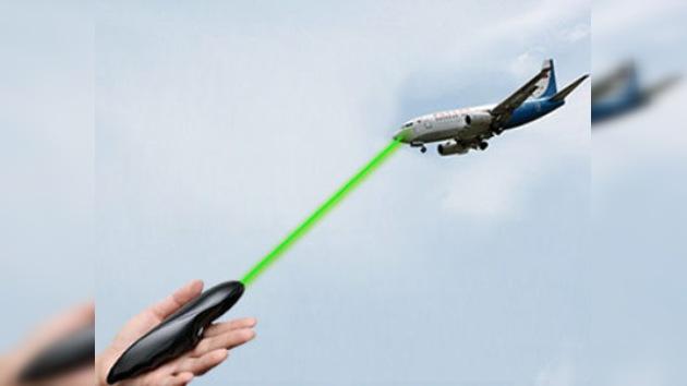 El láser verde no da tregua a los pilotos rusos