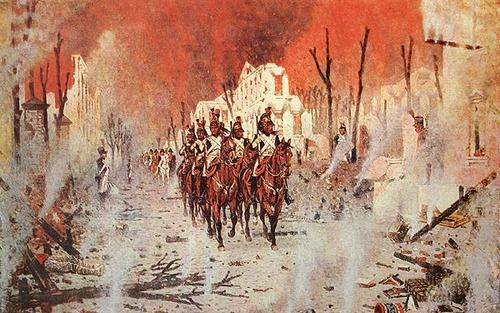El incendio de Moscú de 1812 en las obras de pintura