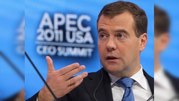 Medvédev espera que no haya sorpresas de última hora en el ingreso de Rusia en la OMC