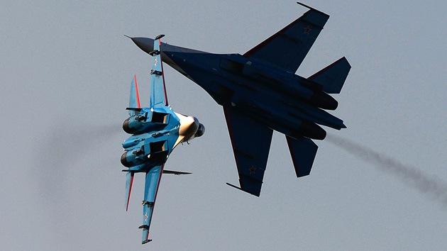 Cazas rusos y norteamericanos realizan ejercicios militares en plena tensión de Siria