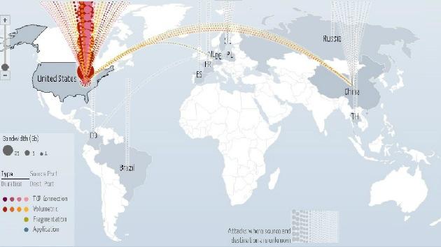 Google crea un mapa interactivo de ataques DDoS en todo el mundo