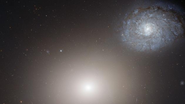 El Hubble capta una imagen de dos galaxias vecinas