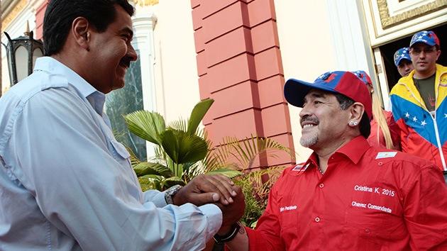 """Maradona: """"Estoy dispuesto a ser un soldado de Venezuela"""""""
