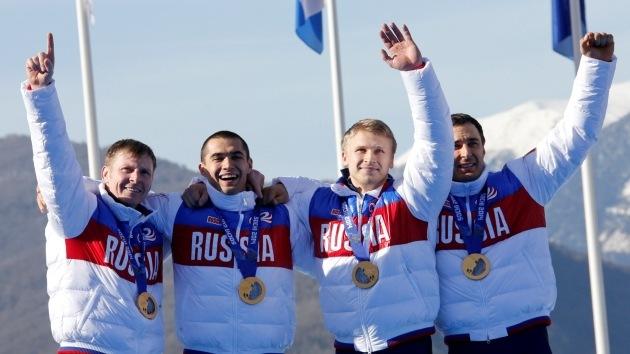 Rusia se consolida en el liderato del medallero con un oro en bobsleigh