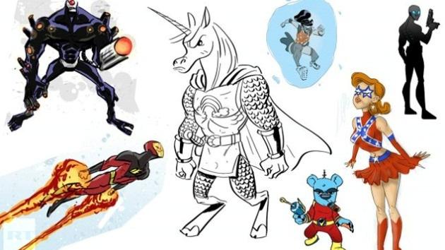 'Superhazaña': Un artista diseña un superhéroe para cada día del año