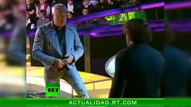 Dos multimillonarios rusos se pelean en un programa de televisión