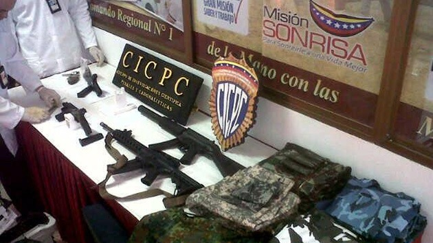 Detienen en Venezuela a un estadounidense que guardaba armas ilegales