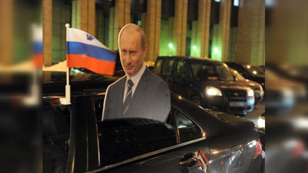 'No dejes el volante': Moscú celebra una carrera automovilística en apoyo a Putin