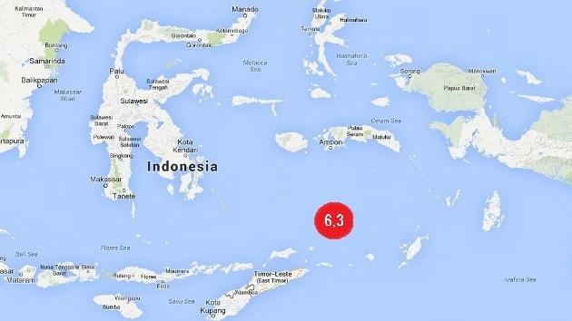 Un terremoto de magnitud 6,3 se registra cerca de las costas de Indonesia