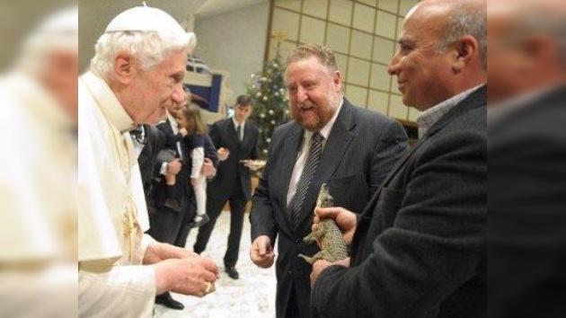 Sorpresa para el Papa: la visita de un cocodrilo